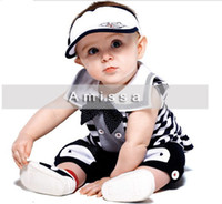 Wholesale Top quality AMISSA summer striped shirt pants suit baby kids clothing Set