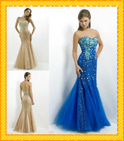 Chiffon Sleeveless Floor-Length Custom 2014 New Style WOW Gold Royal Blue Strapless with Sequins Fabric Crystals Evening Dress Prom Pageant Party Formal Dresses Gown 2014