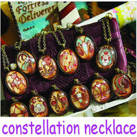 South American Women's Party Wholesale -Chinese style Handmade gemstone twelve constellations retro long paragraph sweater chain necklace Fashion Jewelry Necklace