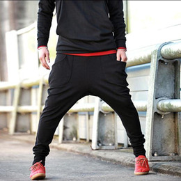 Wholesale utility New Mens Blend Cotton Casual Sports Dance Trousers Baggy Jogging Harem Pants R45