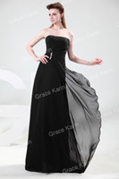 Wholesale 1pc Grace Karin Black Strapless Chiffon Bandage Long Formal Evening Dinner Dress CL4430