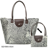 cheap branded bags - Nylon Designers Brands Women s Handbag Shopping Bag Folding Leopard Shoulder Bags Cheap Tote Bag QQ1696