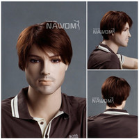 good quality wigs - 100 KANEKALON Fashion Style Auburn Mens Wigs Handsome Hair Wig Good Quality Male Synthetic Wigs