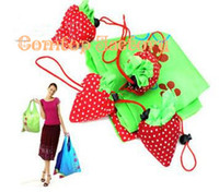 Wholesale Fedex Best Price Strawberry Foldable Eco Bag Reusable Shopping Tote Shoulder Purse Cute Beauty