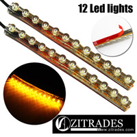 Wholesale ZITRADES Ft long Yellow LED Strip Car Flexible strip with M Tape Waterproof for Neon Motorcycle Car Boat Home Pod light DC12V