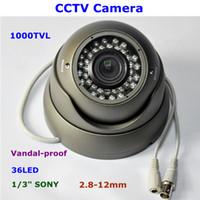 Wholesale New Style Sony Megapixel Sensor TVL mm Manual Zoom Lens LED Vandal proof CCTV Dome Camera