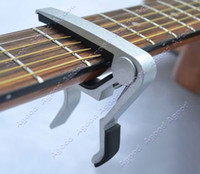 Wholesale 10PCS New Aluminum Metal Trigger Guitar Capo Clamp For Acoustic Electric Guitar Silver
