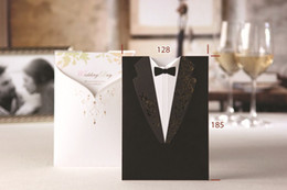 Wholesale 2013 Hot Sale Bride amp Groom Tuxedo Gown Design Wedding Invitations Cards wedding supplies
