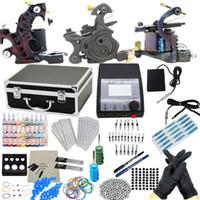 apprentice tattoo kit - USA Warehouse Complete Tattoo Kit Machine Guns Inks Grips Needles Power Needles Tips Equipment Apprentice Supplies GBL WS K058I1P1 a