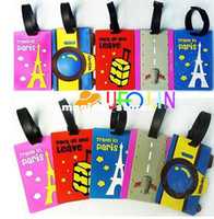 Wholesale N55 Paris tower series quality pvc luggage tag