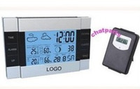 Cheap IR Wireless Indoor Outdoor Weather Station Thermometer Hygrometer Calendar Clock Backlight Free shipping