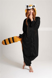 Wholesale Cheap Funny Small raccoon Cosplay Costume unisex Adult Onesie Dress Or Sleeping Home Dress