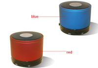 Wholesale Mini Speaker Portable Wireless Speaker With Mic Support insert TF card play mp3 format Multi color black white red blue silver colors