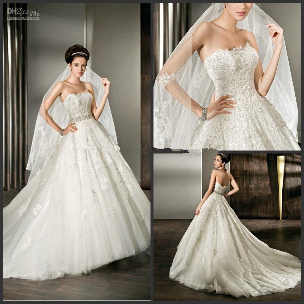 Wholesale Demetrios Wedding Dresses : Bridal gowns demetrios a line strapless wedding dress
