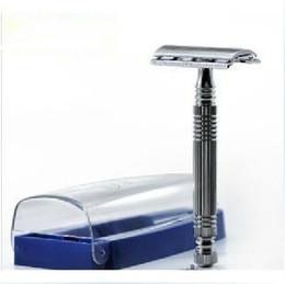 Wholesale Exquisite A2002 Men s Double Edge Shaving Safety Razor White Metal D
