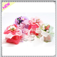 Wholesale Colorful European Style DIY New Wedding Flower Candy Box Bag Wedding Favors Holder Gift