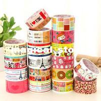 Wholesale A30 New vintage tower cartoon animal adhesive tape M long masking DIY sticker label