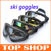Wholesale Outdoor Ski Goggles Colors Lens UV400 Anti fog Ski Glasses Black Ski Goggles