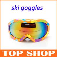 Wholesale Children s Ski Goggles Color Lens UV400 Colorful Cartoon Ski Goggles Anti fog Ski Glasses HW0007