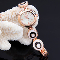 Wholesale Fashion Jewelry Bracelet Round Rose Gold Bracelet Cuff Women Metal Wrist Watch