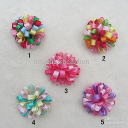 Wholesale - 5Color Baby Kids Christmas Hair Clips,9cm Fashion Baby Girl Dovetail Style Multicolor Bow Hair Clip,Children Ribbon Accessories