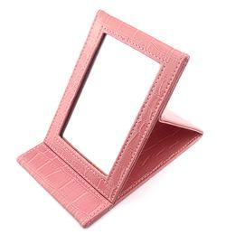 Wholesale Fashion Portable Pocket Folding Make Up Mirror Portable Mirrors Z004