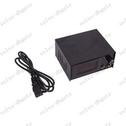 Wholesale LCD Digital Tattoo Power Supply Machine Aluminum Alloy Black GA4023