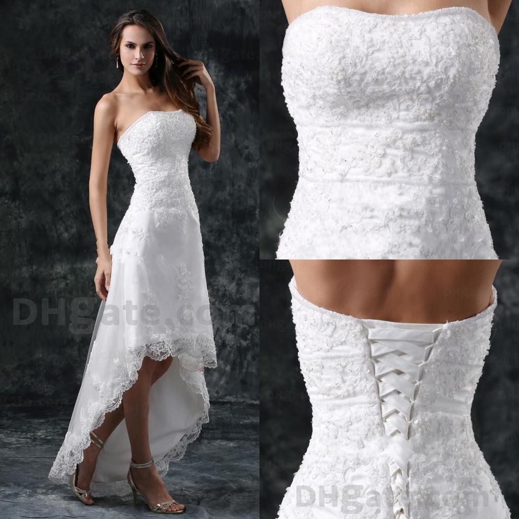 Discount New Arrival 2014 Wedding Dresses Lace A Line Hi