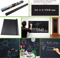 Wholesale Chalk Board Blackboard Sticker Removable Vinyl Wall Decal with Free Chalks