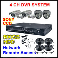 Wholesale H CCTV CH DVR SONY CCD IR Camera Security Home System G HDD Indoor Outdoor Camera DHL