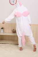 Wholesale Nice Conjoined Clothes Pajamas Cosplay Pajamas Anime Pink Unicorn Cosplay Costume unisex Adult Onesie