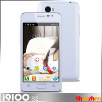 Wholesale MTK6572 i9100 S2 Dual Core inch Screen android GHz white Smartphone G Cell phone