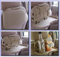 folding tray - New Design Multi Tray Food Car Seat Stand Rear Seat Beverage Rack water Drink Holder Bottle Travel mount folding meal Cup desk table