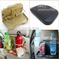 Plastic   New Design Multi Tray Food Car Seat Stand Rear Seat Beverage Rack water Drink Holder Bottle Travel mount folding meal Cup desk table