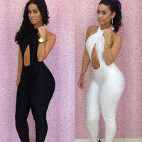 2014 New Fashion Black White Sexy Women's Bodycon Bodysuit H...
