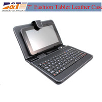 Keyboard Case 7'' for 7inch tablet pc  Universal Leather Case Flip Cover for 7 inch Tablet PC Stand Folio Folding Leather keybord Case 10pcs