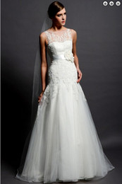 Wholesale New style plus size white debutante gowns Organza bridal evening gowns allure lace wedding dresses with detachable train