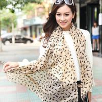 Wholesale new fashion spring summer women s scarves chiffon scarf cat print animal pashmina shawl