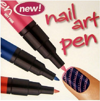 mix beautiful brush pens - Nail Art Paint Drawing Pen Nail Tools Great for French Manicures novelty beautiful life colorful Hot Sale