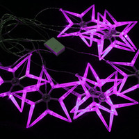 Wholesale LED String Light Pentagram String Light Christmas Tree Festival Decoration Light High Quality LED