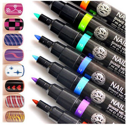 Wholesale Wonderful pc Lady Nail Art Pen Painting Design Drawing Tool Colours for Option