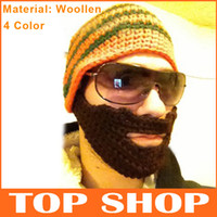 Wholesale Hats Beanie Skull Caps Bearded Wool Knitted Hats Beard Knitted Hat Color