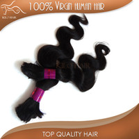 Wholesale Body wave virgin human hair bulk black brazilian hair braiding extensions bulk