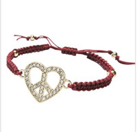 american trade mark - Europe and the United States the foreign trade of the original single jewelry Fatima bracelet heart Peace mark red rope bracelet bracelet