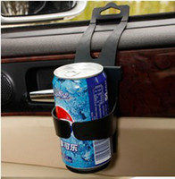 Plastic auto shelf - Protable Design Car water cup drink black holder shelf Auto cup beverage holder supplies