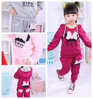 Wholesale Retail colors baby kids sport wear Baby Clothing Set girls sport suit Baby Clothes Baby Garment Size for T u pick size amp color free