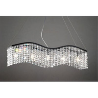 Wholesale Modern Linear Rectangular Island Dining Room Crystal Chandelier
