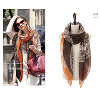 Wholesale style deer headbands for women s scarf cotton autumn Long Scarf Fashion Shawls