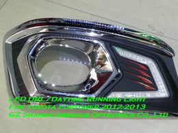 Chromed LED Daytime Running Light DRL For Toyota Fortuner 2012-2013 Free Shipping
