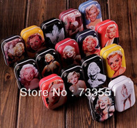 Wholesale Collectables monroe pattern series of mini kit pill small storage box tin no color box